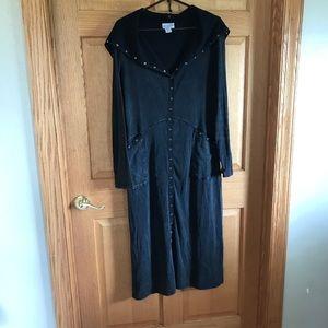 Soft surroundings, hooded, long sleeved dress